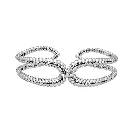 Tiffany Kay Studio Sterling Silver Herringbone-Textured Open Cuff
