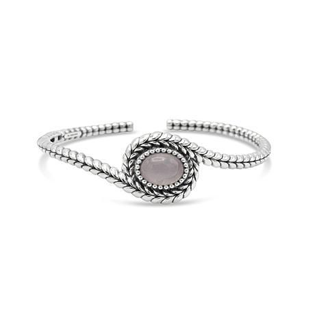 Tiffany Kay Studio Sterling Silver Rose Quartz Cuff Bracelet