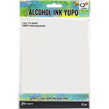 "Tim Holtz Alcohol Ink 5"" x 7"" White Yupo Paper 144lb 10-pack"