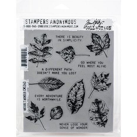 """Tim Holtz Cling Stamps 7"""" x 8.5"""" - Nature's Wonder"""