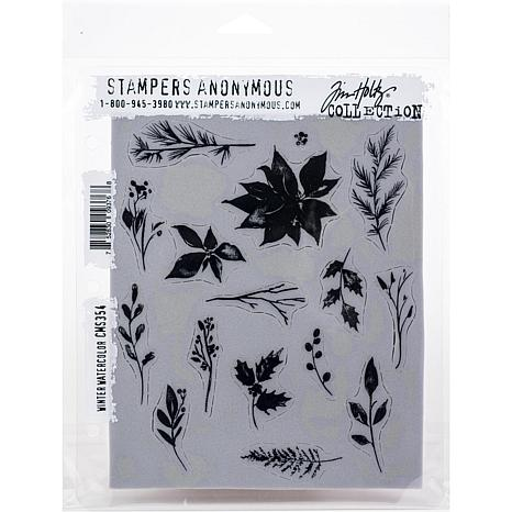 """Tim Holtz Cling Stamps 7"""" x 8.5"""" - Winter Watercolor"""
