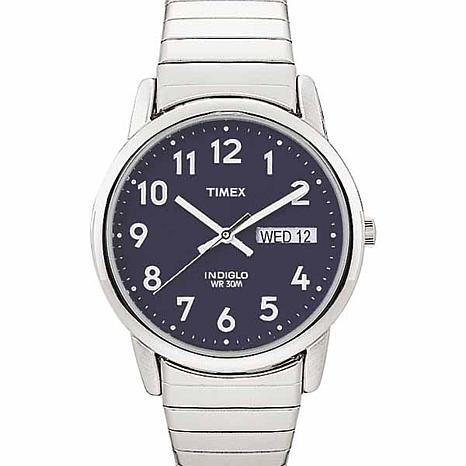 Timex Men's Blue Dial Easy Reader Expansion Watch