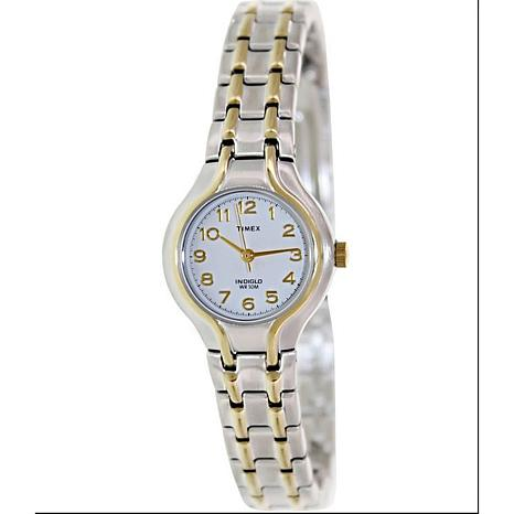 s elevated classic 2 tone stainless steel dress