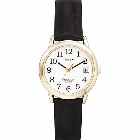 Timex Women's Classic EZ-Reader Black Strap Watch