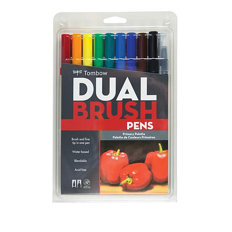 Tombow Dual Brush Pen 10-pack - Primary