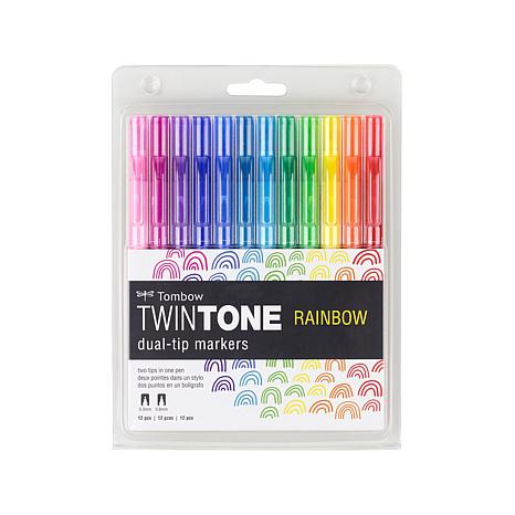 Tombow TwinTone Markers Rainbow 12-pack