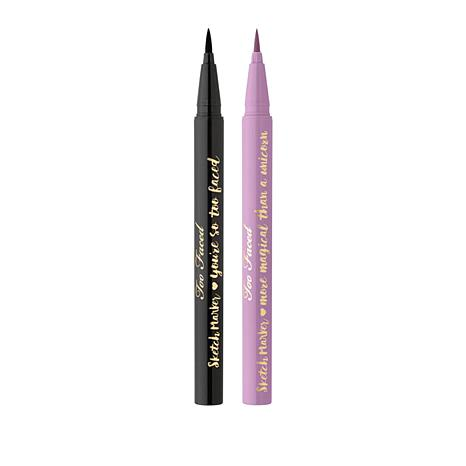 Too Faced Lined & Defined Sketch Marker Liquid Liner Duo - Black/Lilac