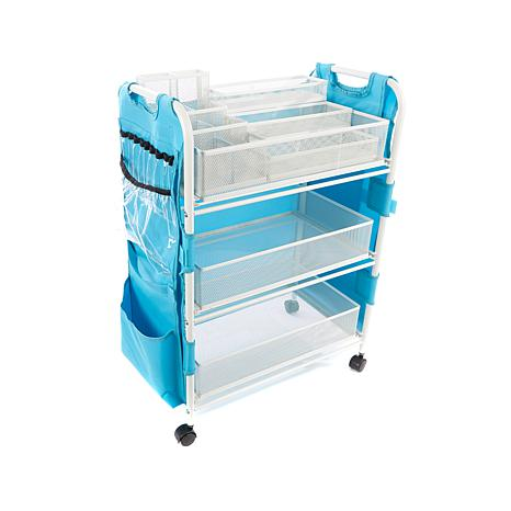 Totally-Tiffany Craft Cart w/Attached 19-Pocket Apron