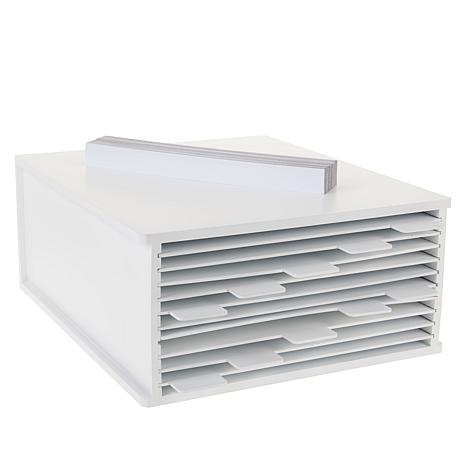 Totally-Tiffany Desk Maid Die Storage File Box with Tabbed Shelves