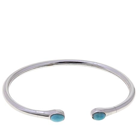 Traveler's Journey Larimar Flexible Cuff Bracelet