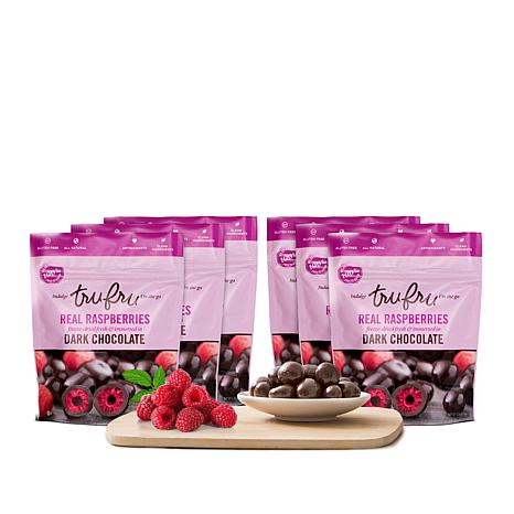 Tru Fru On The Go 6-pack Chocolate Fruit Snacks - Raspberry