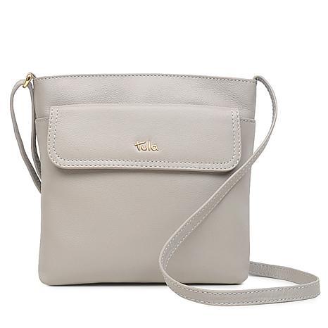 f60988de5b Tula England Medium Zip-Top Grainy Leather Crossbody Bag
