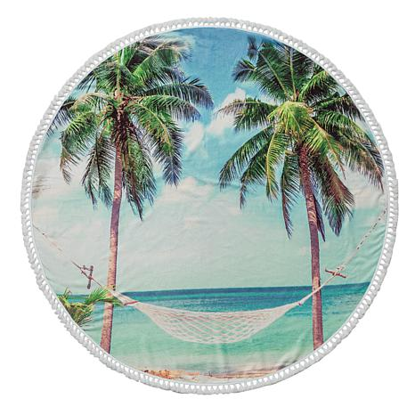Turkish Cotton Round Beach Towel - Summer