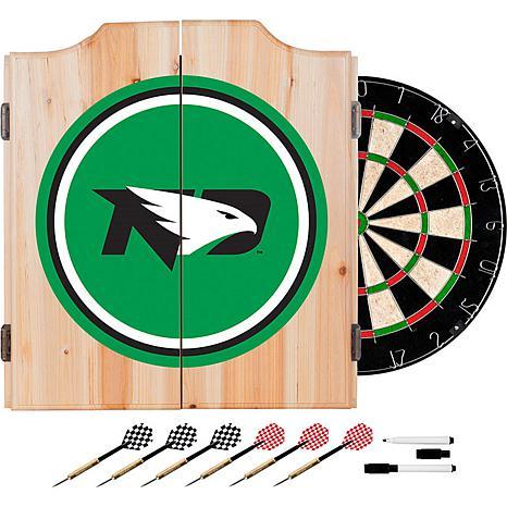 Univ of North Dakota Dart Cabinet with Darts and Board