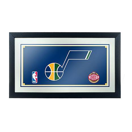 Utah Jazz NBA Framed Logo Mirror