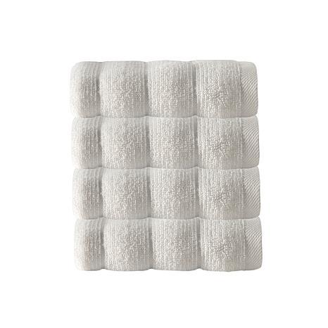 Vague 100% Turkish Micro Cotton 4-piece Wash Cloth Set