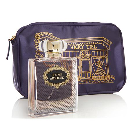 Vicky Tiel Femme Absolue Eau De Parfum with Cosmetic Bag