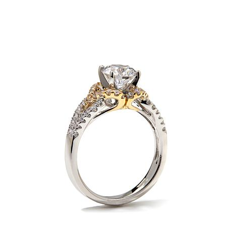 Victoria Wieck 17ctw Absolute 14K Gold 2 Tone Wedding Ring
