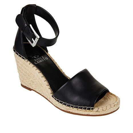 Vince Camuto Leera Leather Espadrille Wedge Sandal