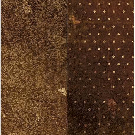 Vintage Dot Double-Sided Cardstock - Chocolate
