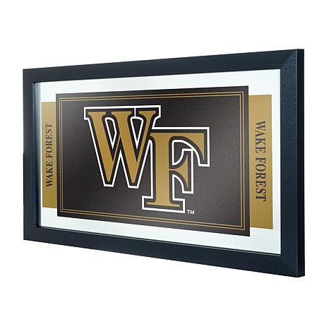 Wake Forest University Logo and Mascot Framed Mirror