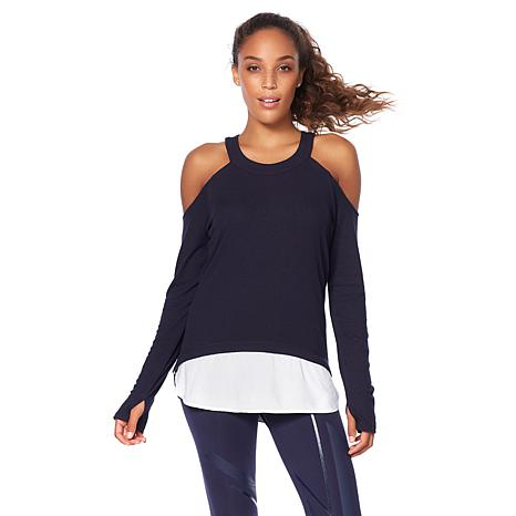Warrior by Danica Patrick Layered Cold-Shoulder Top