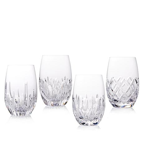 Waterford Distinctive Set of 4 Stemless Wine Glasses