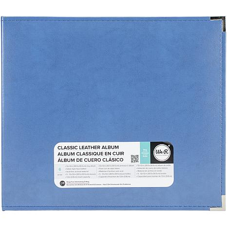 We R Classic Leather D-Ring Album 12X12 - Country Blue