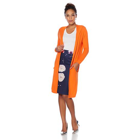 Wendy Williams Hooded Cardigan with Pockets