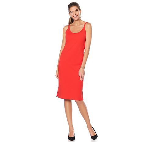 Wendy Williams Sleeveless Slip Dress with Slits
