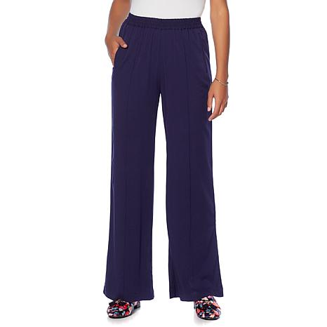 Wendy Williams Wide-Leg Pull-On Jersey Knit Pant