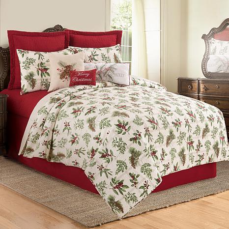Winter Botanical Full/Queen Quilt Set