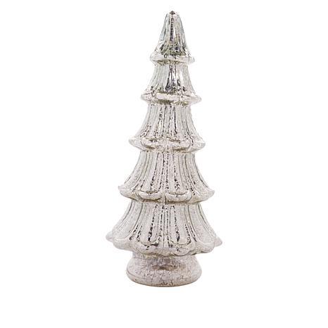 "Winter Lane 16"" Mercury Glass Kaleidoscope Tree with Timer"