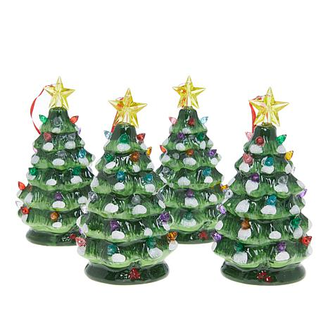 winter lane 4 piece led lit christmas tree ornaments - Christmas Decorations Led Ornaments