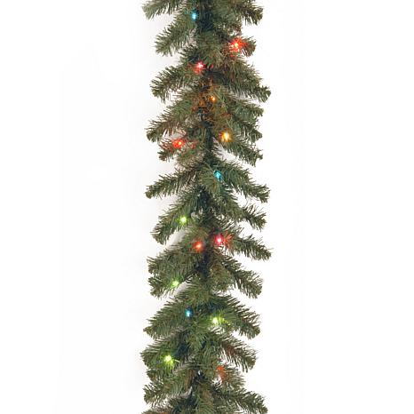 winter lane 9 kincaid spruce garland with multicolor lights