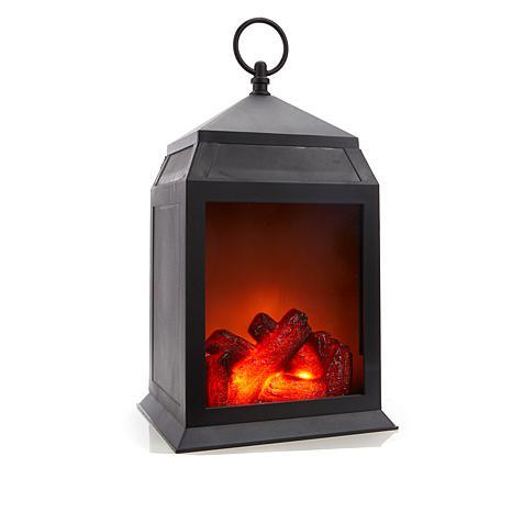 Winter Lane Fireglow Battery-Operated Lantern