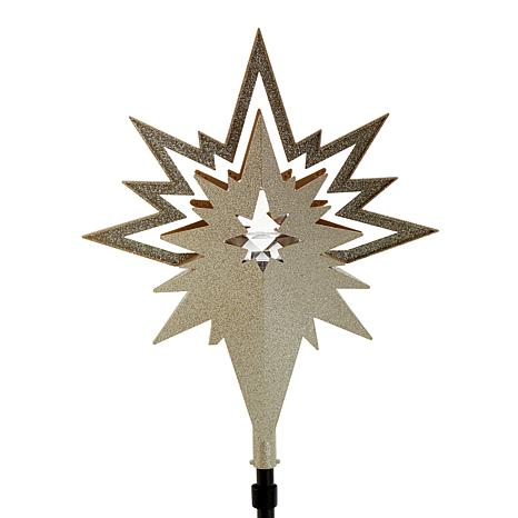 Winter Lane Light Show Projection Christmas Tree Topper