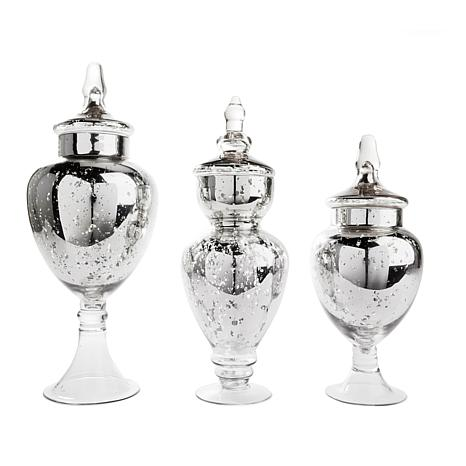Winter Lane Set of 3 Apothecary Jars - Medium