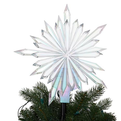 Winter Lane Starburst Projection Christmas Tree Topper