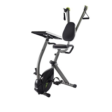 Wirk™ Ride Exercise Bike with Workstation & Strength System