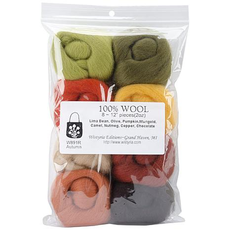 Wistyria Editions Set of 8 Ultra Fine Wool Yarn