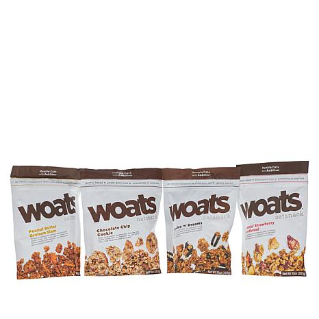 WOATS Oatsnack 4-pk  Soft Oat Variety Pack Assorted Flavors Auto-Ship®