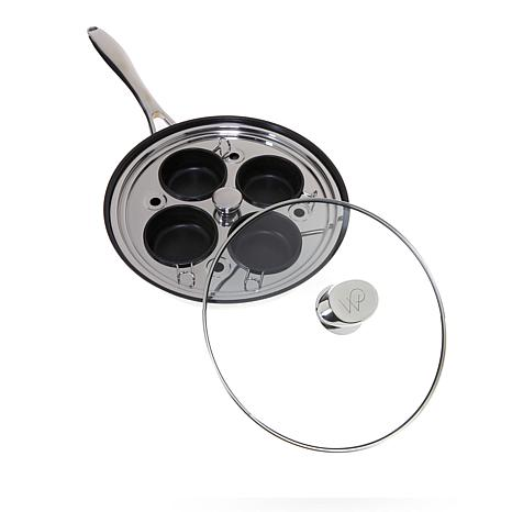 """Wolfgang Puck 10"""" Nonstick Skillet with Egg Poachers"""