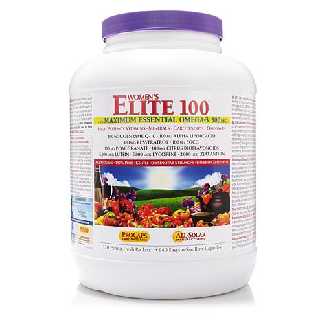 Women's Elite 100 w/Maximum Essential Omega-3-120 Pk AS
