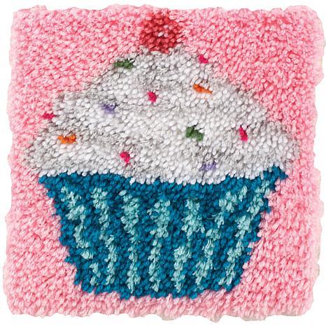 Caron Wonderart Latch Hook Kit 12x12 Cupcake 7269586 Hsn