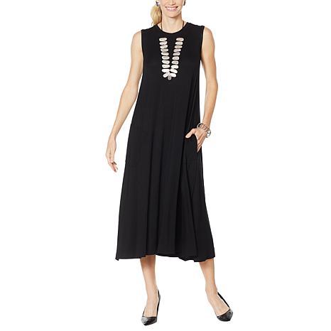 WynneLayers Sleeveless Dress with Pockets