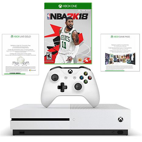 """Xbox One S 1TB 4K Game Console with """"NBA 2K18"""" Game and Controller"""