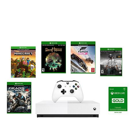 Xbox One S 1TB All-Digital Edition Console Bundle with 5 Games