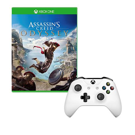 "Xbox One S Controller with ""Assassin's Creed Odyssey"" Game"