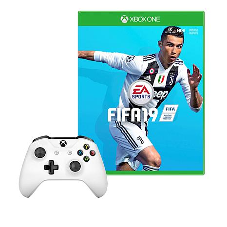 "Xbox One S Controller with ""FIFA 19"" Game"